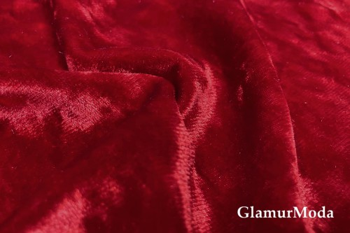 Бархат крэш (мрамор), красный