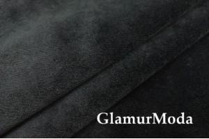 Мебельный бархат чёрного цвета, 140 см, Турция