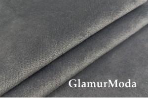 Мебельный бархат серого цвета, 140 см, Турция