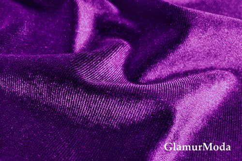 Бархат стрейч фиолетового цвета