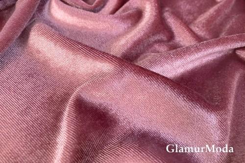 Бархат стрейч, розово-жемчужный