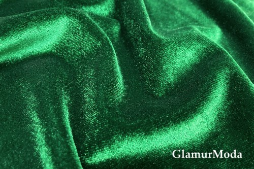 Бархат стрейч, темно-зеленый