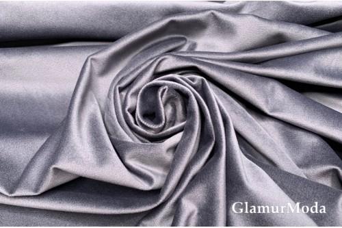 Бархат для штор серого цвета 280 см, Китай