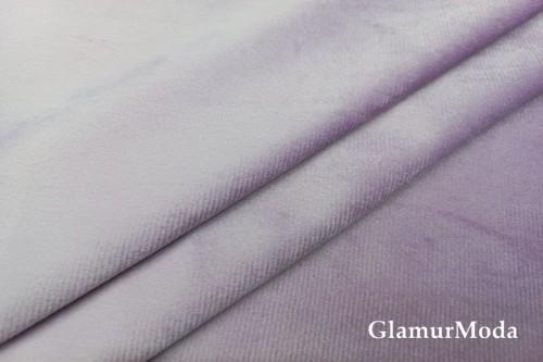 Бархат для штор сиреневого цвета 300 см, облегченный, Китай