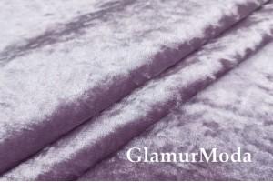 Бархат для штор мраморный, цвет сиреневый, 300 см, Китай