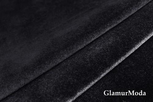 Бархат для штор чёрного цвета 300 см, Китай