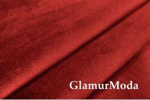 Бархат для штор темно-красного цвета 300 см, Китай