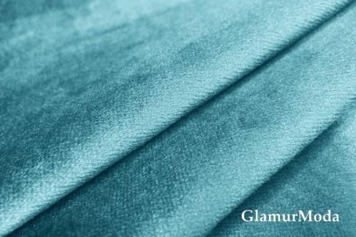 Бархат для штор бирюзово-голубого цвета 300 см (Турция)