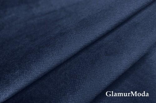 Бархат для штор темно-синего цвета 300 см (Турция)
