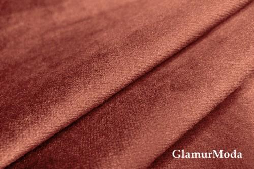 Бархат для штор терракотового цвета 300 см (Турция)