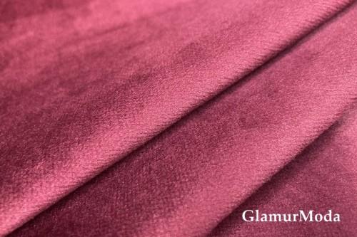 Бархат для штор бордового цвета 300 см (Турция)