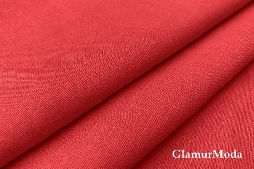 Бязь красного цвета, 220 см, Турция