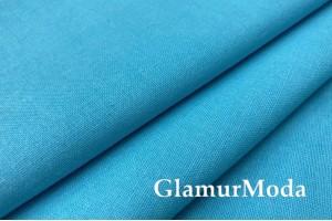 Бязь бирюзово-голубого цвета, 220 см, Турция
