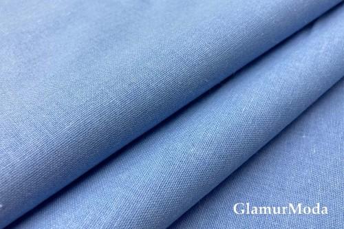 Бязь голубого цвета, 220 см, Турция