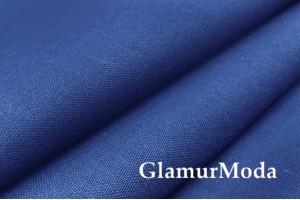 Бязь синего цвета, 220 см, Турция