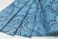Бязь 220 см, узоры на голубом фоне, Турция