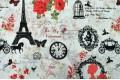 Бязь 220 см, Париж красный цветок, Турция, Турция