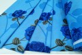 Бязь 220 см, Синие розы на голубом фоне, Турция