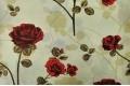 Бязь 220 см, Красные розы на бежевом фоне, Турция