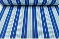 Бязь 220 см, полоски синие, голубые, черные, белые, Турция