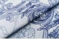 Бязь 220 см, Голубые узоры арт. 4585/6, Турция
