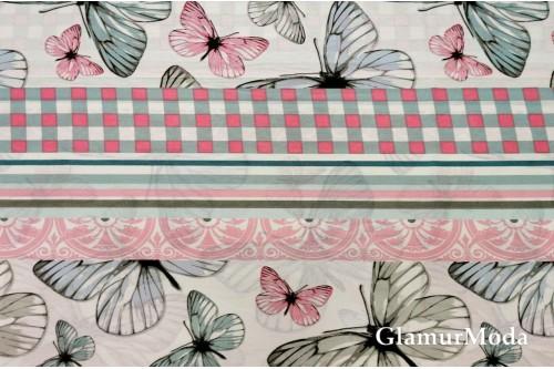 Бязь 220 см, бабочки дизайн 1, Турция