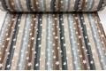 Бязь 220 см, звезды на разноцветные полоски (серый, бежевый, коричневый), Турция