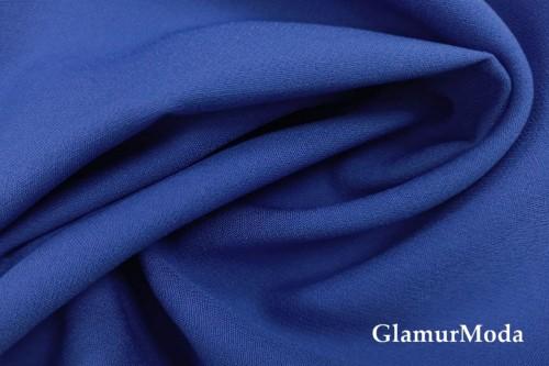 Дабл креп синего цвета
