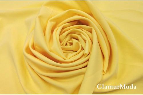 Дабл креп нежно-жёлтого цвета