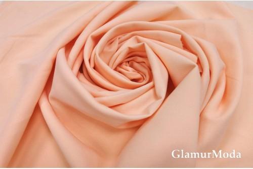 Дабл креп нежно-персикового цвета