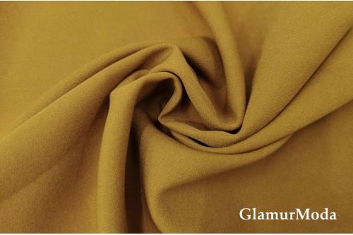 Дабл креп золотисто-коричневого цвета
