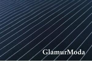 Трикотаж Джерси (Нейлон Рома) полоски на темно-синем фоне, 600 гр/м