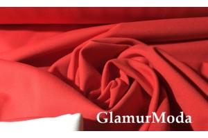 Трикотаж Джерси (Нейлон Рома) ярко красного цвета 600 гр/м
