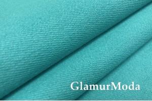 Джинс однотонный цвет голубой бирюзы (SPAN)