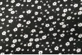 Джинсовая ткань белые цветы на черном фоне