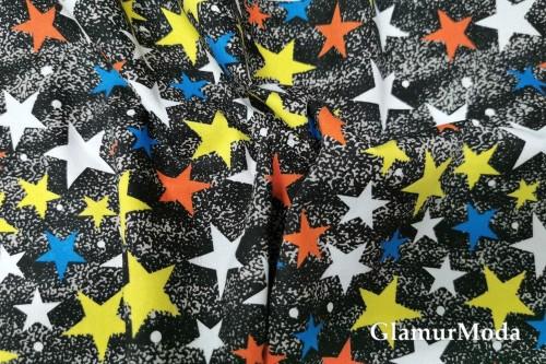 Джинсовая ткань, Цветные звезды на чёрном фоне
