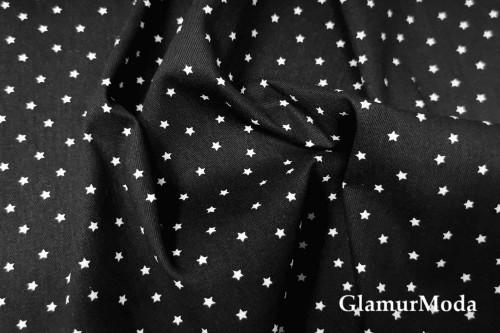 Джинсовая ткань звездочки на черном фоне