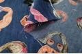 Джинсовая ткань с рисунком Маски