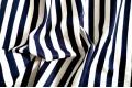 Джинсовая ткань белая и темно-синяя полоска