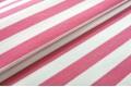 Джинсовая ткань белая и розовая полоска