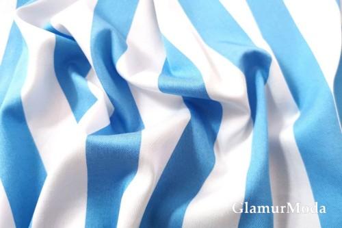 Джинс сорочечный бело-голубые полоски