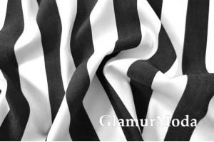 Джинс сорочечный бело-черные полоски