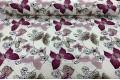 Дак (DUCK) малиновые и сиреневые бабочки на цветах