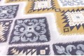 Дак (DUCK) серо-жёлтый орнамент, 180 см