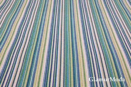 Дак (DUCK) полоски зелено-синие