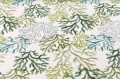 Дак (DUCK) оливковые, бирюзовые кораллы на белом фоне