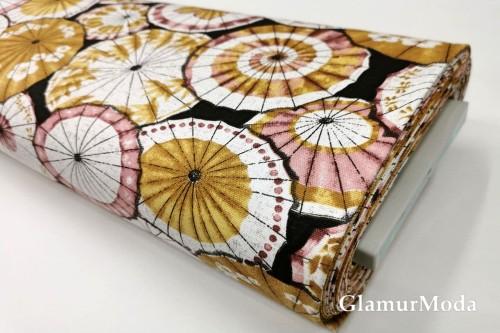 Дак (DUCK) китайские зонтики, горчичный и пудровый цвет