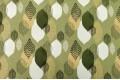 Дак (DUCK) абстрактные листья, хаки и бежевые на оливковом фоне