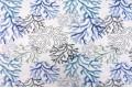 Дак (DUCK) голубые, серые кораллы на белом фоне