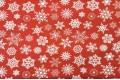 Дак (DUCK) белые снежинки на красном